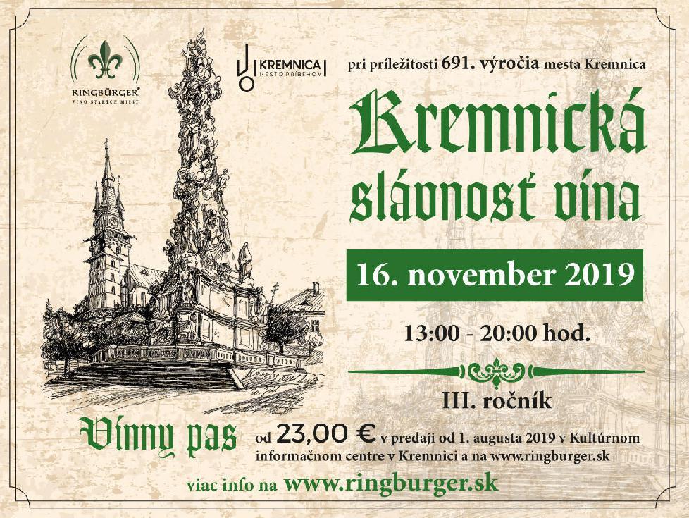 Kremnická slávnosť vína 2019
