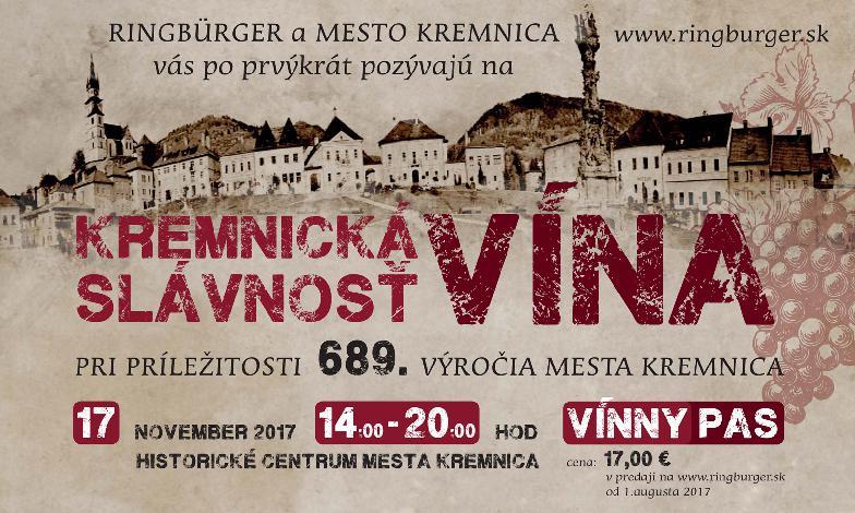 Festival Kremnická slávnosť vína 2017